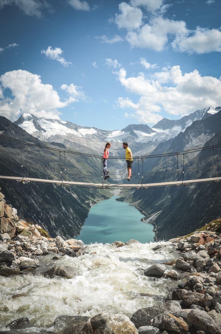 Ponte suspensa Olpererhütte #zillertal #tirol #olperer # ponte suspensa # olpererh …  – NiCe PlAcEs