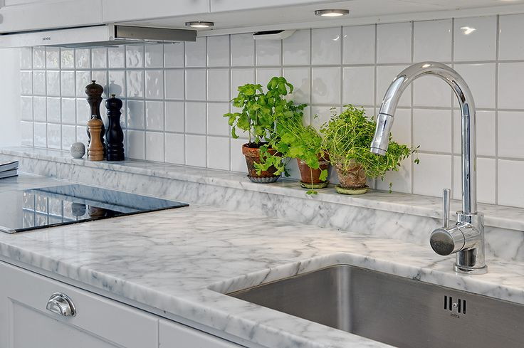 grey grout with marble