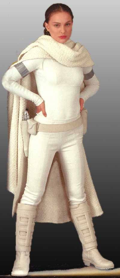 Star Wars Padme Amidala Arena Outfit With Cloak - Front view