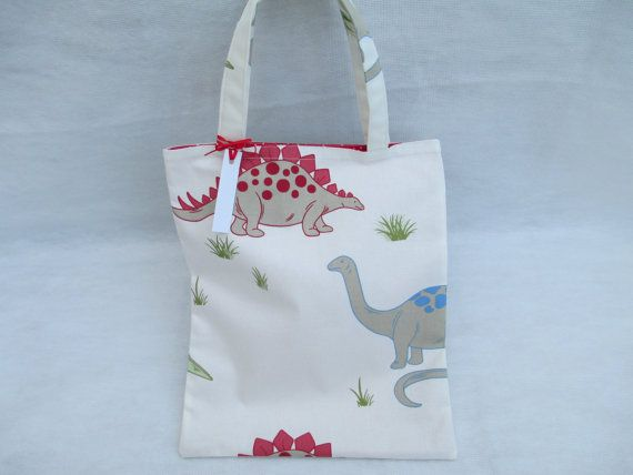 Hey, I found this really awesome Etsy listing at http://www.etsy.com/listing/165127447/childs-tote-bag-in-laura-ashley-dinosaur