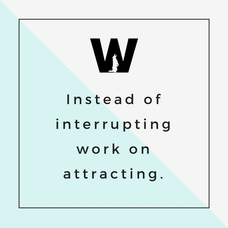 Instead of interrupting work on attracting. #DigitalMarketing #Advertising