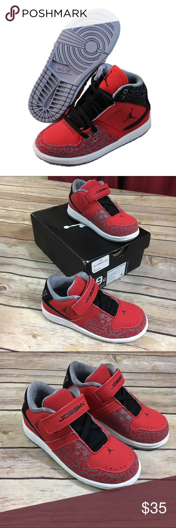 NEW Nike Air Jordan 1 Flight Low Toddler 9 Fire NEW Nike Air Jordan 1 Flight Low Toddler 9 Fire Red   Beautiful new Air Jordan 1 Flight Low shoes.  Size is toddler 9.  Colors are fire red, black and cement grey.  #new #airjordan #jordans #jordan #nike #flightlow #1flightlow #firered #black #cementgrey #coolkicks #shoes #kicks Jordan Shoes Sneakers