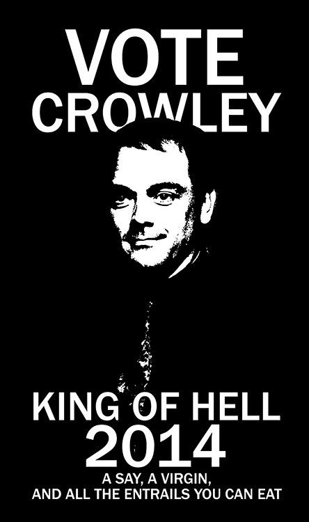 FREE tote bag Vote Crowley Campaign Supernatural v…