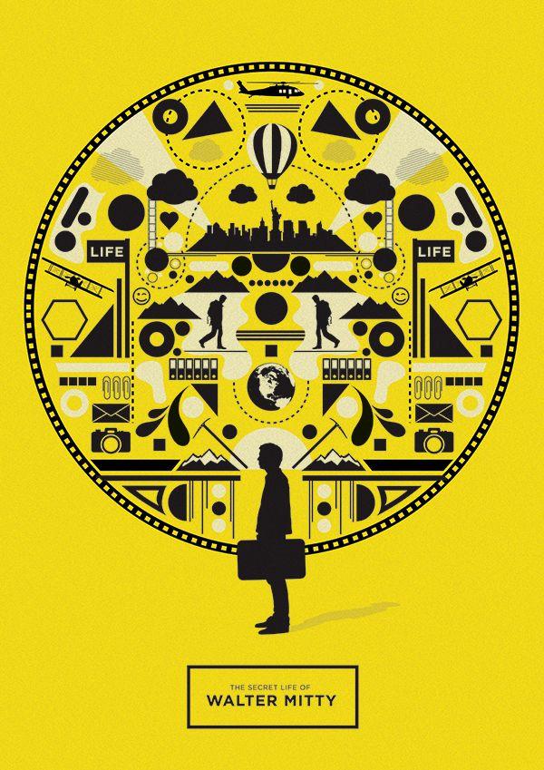 The Secret Life of Walter Mitty (2013) - Minimal Movie Poster by Matt Needle ~ #mattneedle #minimalmovieposters #alternativemovieposters