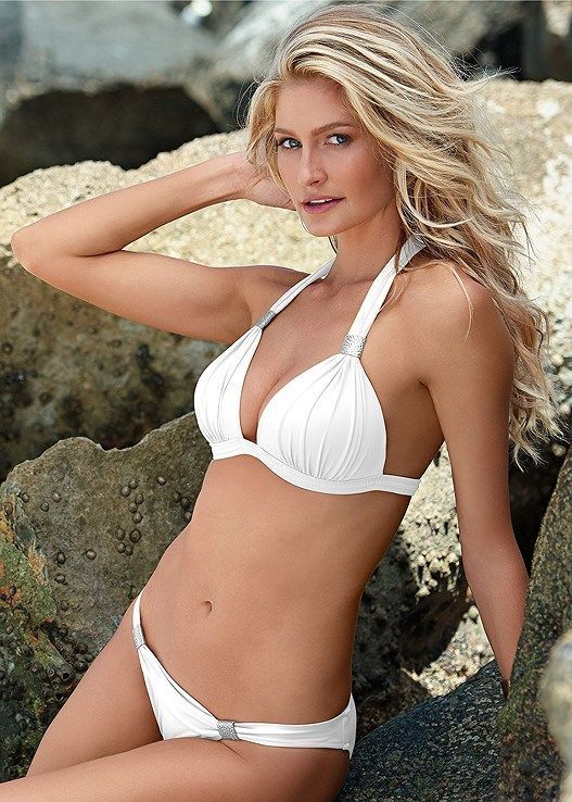 61d3b1d55b3c0 Venus Women's Goddess Low Rise Moderate Bikini/Swimsuit Bottoms - White,  Size 10 #onepiece#swimwear#bachelorette#party