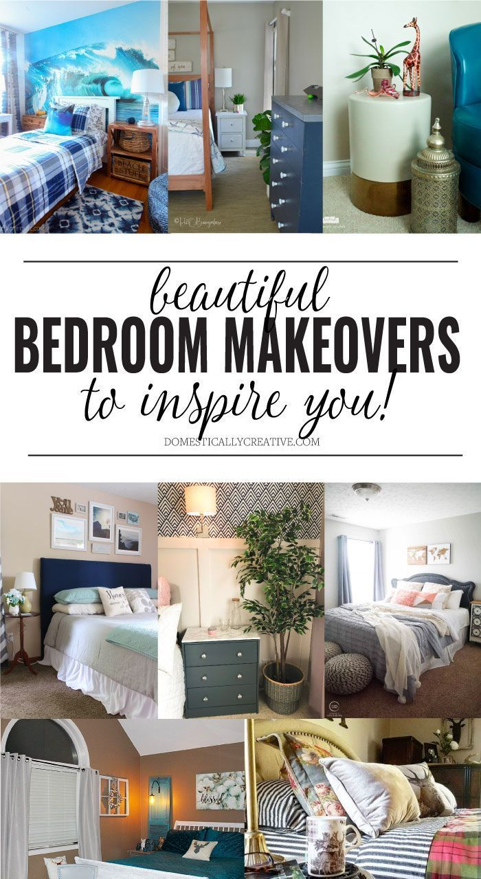 If youu0027re planning to redo a bedroom in your house, you definitely want to  check out these 8 beautiful bedroom makeovers to help inspire and motivate  you!