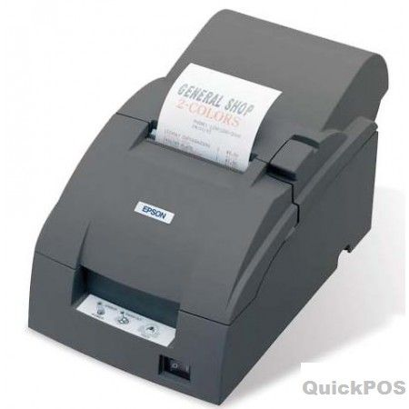 The TM-U220 is a robust, high performance impact receipt printer which is exceptionally easy to use. Featuring drop-in paper load, selectable auto-cutter and clamshell covers for easy access and maintenance, the TM-U220 is very reliable and prints on plain paper in three widths.