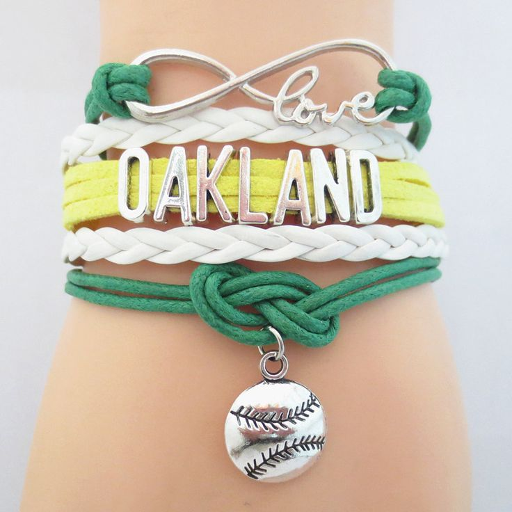 Infinity Love Oakland Baseball - Show off your teams colors! Cutest Love Oakland Bracelet on the Planet! Don't miss our Special Sales Event. Many teams available. www.DilyDalee.co
