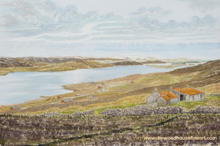 """View from the Weisdale Hill, Shetland"". Medium: Unison & Sennelier Soft Pastels, Materials: Fisher 400 Art Pastel Paper 360 gsm Dimension: External Mounted 18 x 24 inches To buy as Original Painting, Giclee Print or Greeting Card please visit my website at"