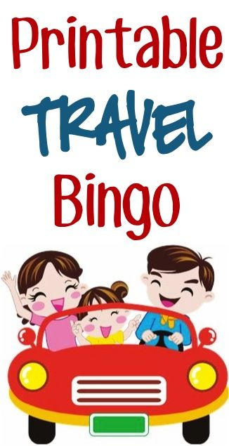 Free Printable Travel Bingo Pages for Kids! #summer #travel