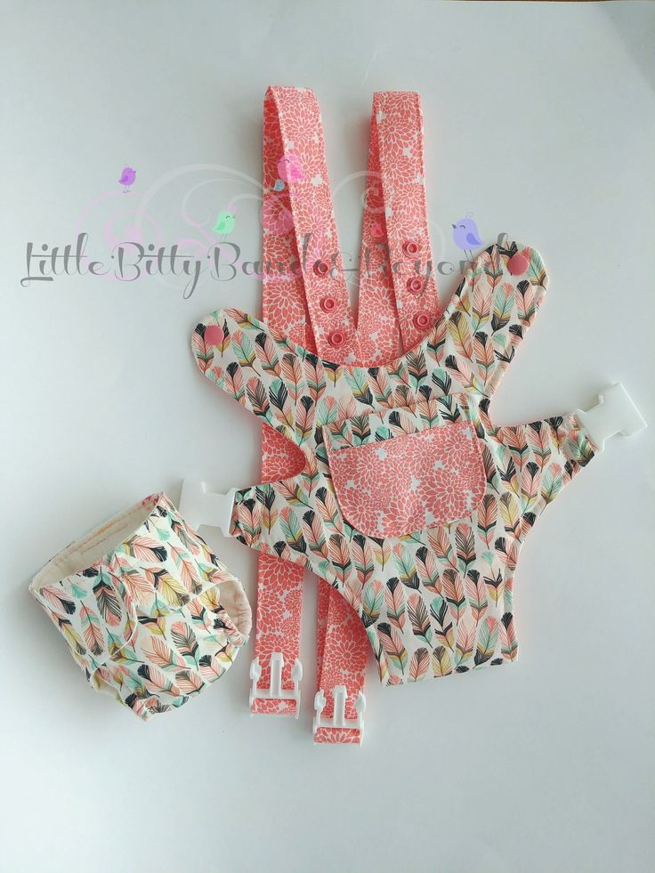 Baby doll carrier | Bear carrier | Baby doll diaper | Waterproof Baby Alive diapers | Feathers in tulip by LittleBittyBandsBeyo on Etsy