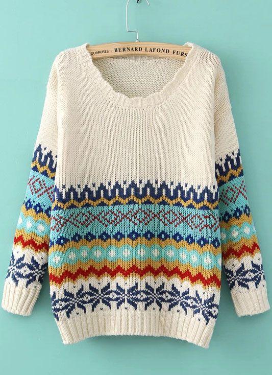 Абрикосовый ретро цветочный свитер 681