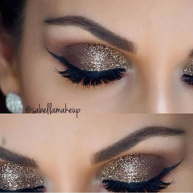 Roposting this gorgeous glitter cut crease with Honey Drop created by @sabellamakeuo @sabellamakeup