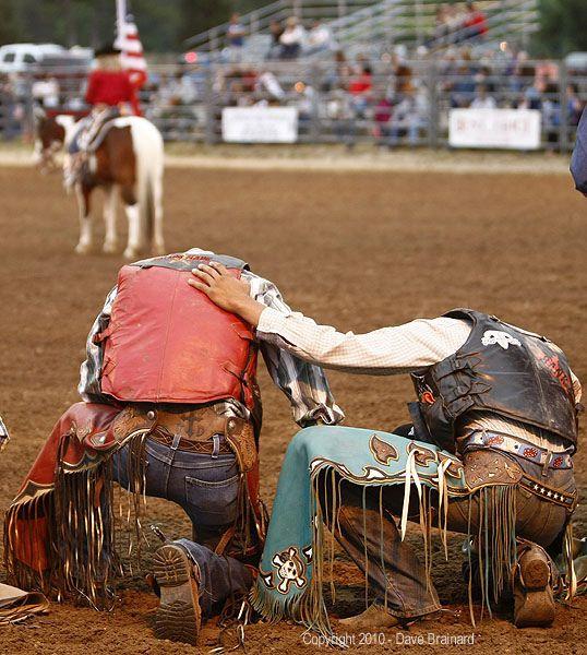 rodeo prayer  Always a good idea when you enter the arena.......
