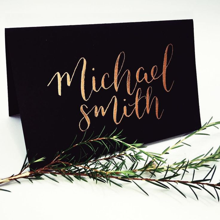 How gorgeous is this copper gold ink in this place card.  Now available for all calligraphy services.  Email with enquiries x