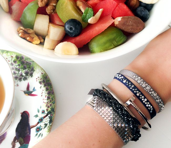 Les Interchangeables Swarovski bracelets (love the small ones)
