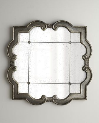 "Got two for the bathroom over the vanity. Hope they fit!! ""Prisca"" Mirrors at Horchow."