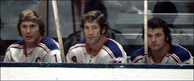 The GAG line peaked during the '71-'72 season. Sniping a total of 139 goals. Hadfield's 50 was tops #NYRangers #NHL