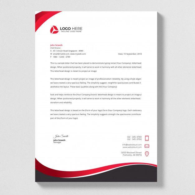 business style letterhead design