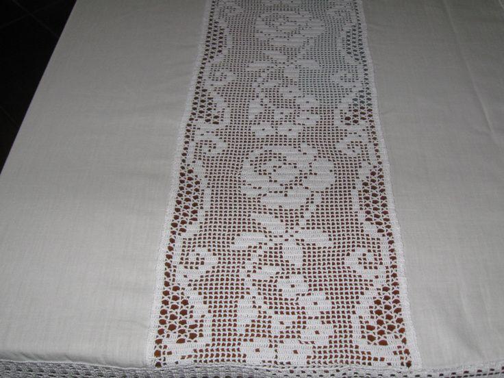 barras em crochet para toalhas de mesa - Pesquisa Google