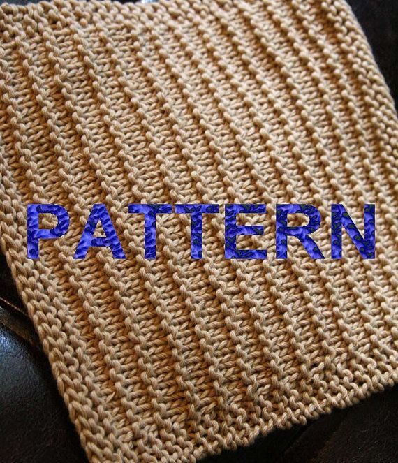 Knit Washcloth Patterns   Knitting Pattern PDF Dishcloth Corduroy