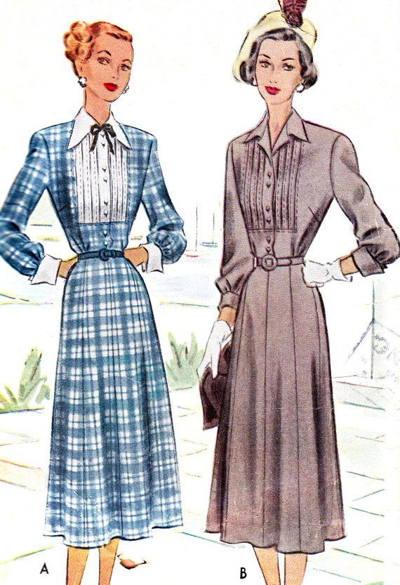 1940s Dress Pattern McCall 7143 Gored Skirt Day or by paneenjerez, $12.00