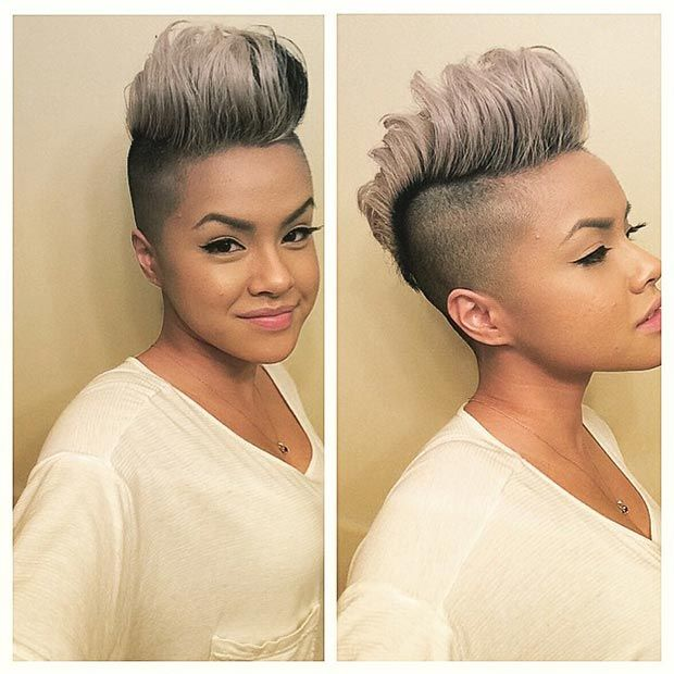 Grey Mohawk with Shaved Sides