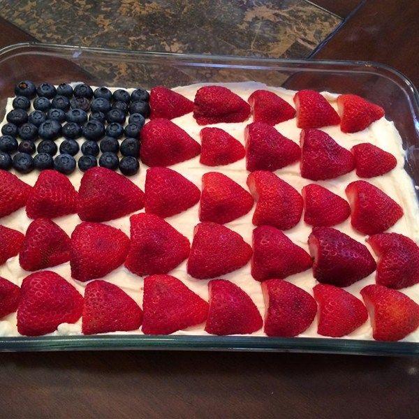 Philadelphia Cream Cheese Flag Cake