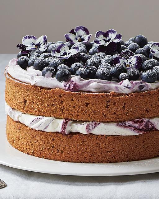 A Lemony Hazelnut & Blueberry Cake from Amber Rose's 'Love, Bake, Nourish'
