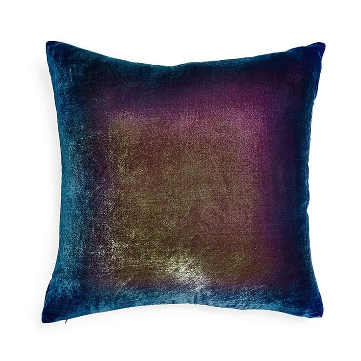This silk velvet pillow is painted by hand in overlapping colours. 9 trending iridescent designs curated by the Warehouse Home team.