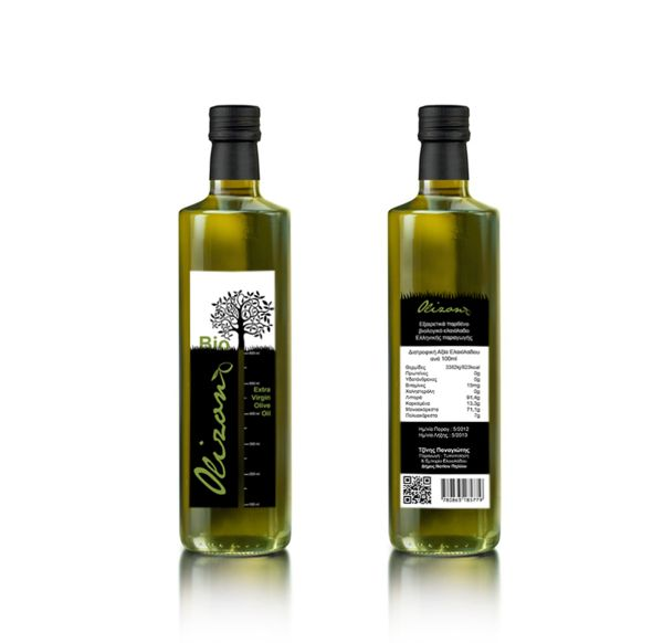 Olive Oil Label  Tzinis Panagiotis