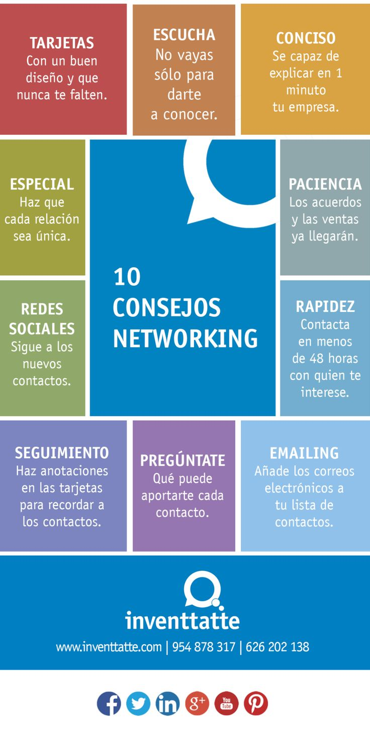 10 consejos para hacer Networking #infografia #infographic #marketing