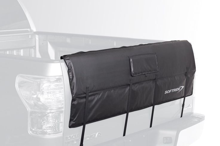 """Softride 26457 Shuttle Pad Black 61"""" Tail Gate Pad by Softride. The Shuttle Pad protects your bikes and your truck during transport. Snug fitting with 6 tie down straps and a daisy chain for securing bikes. Access flap to reach tail gate release handle. Size 61"""" designed for full size pickup trucks. Ideal for hauling bikes, surfboards, paddleboards, kayaks, ladders, or lumber."""