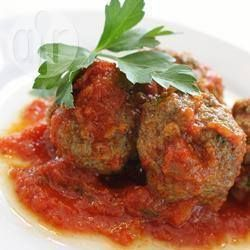 Foto da receita: Almôndegas de carne ao forno