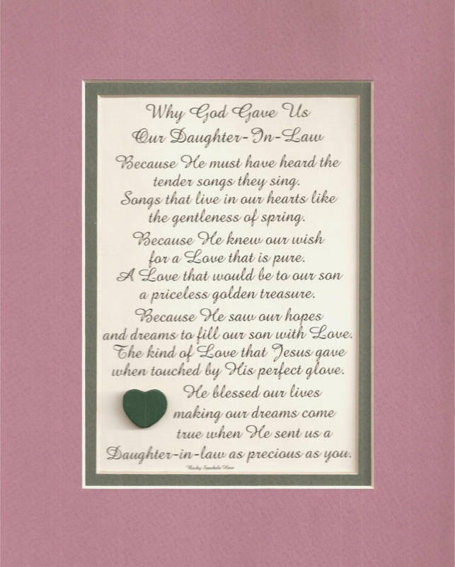 For Our Daughter In Lawwe Miss Her More Every Day