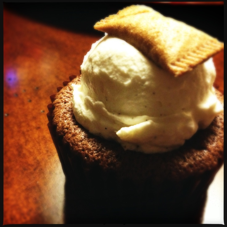 Chocolate Soufflé Cupcake with Whipped Vanilla Bean Cream Cheese frosting - made by Bolu by Rima