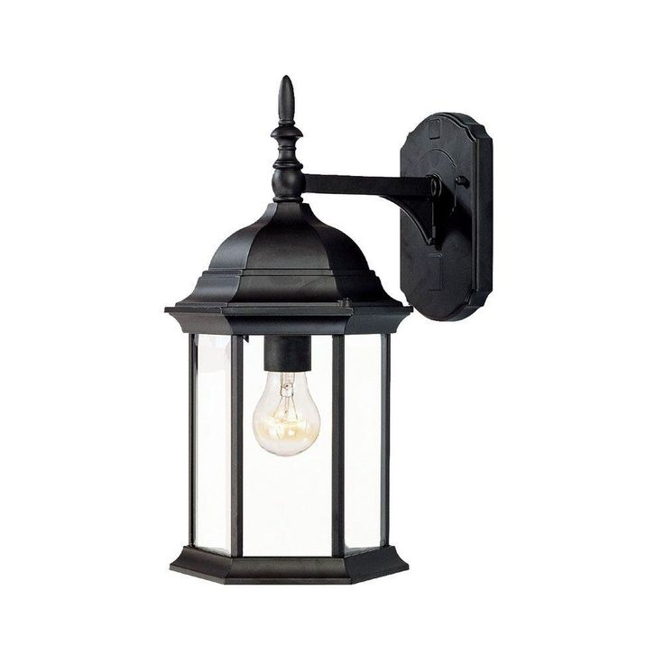 Acclaim Lighting Craftsman Collection 1 Light Matte Black Outdoor  Wall Mount Light Fixture