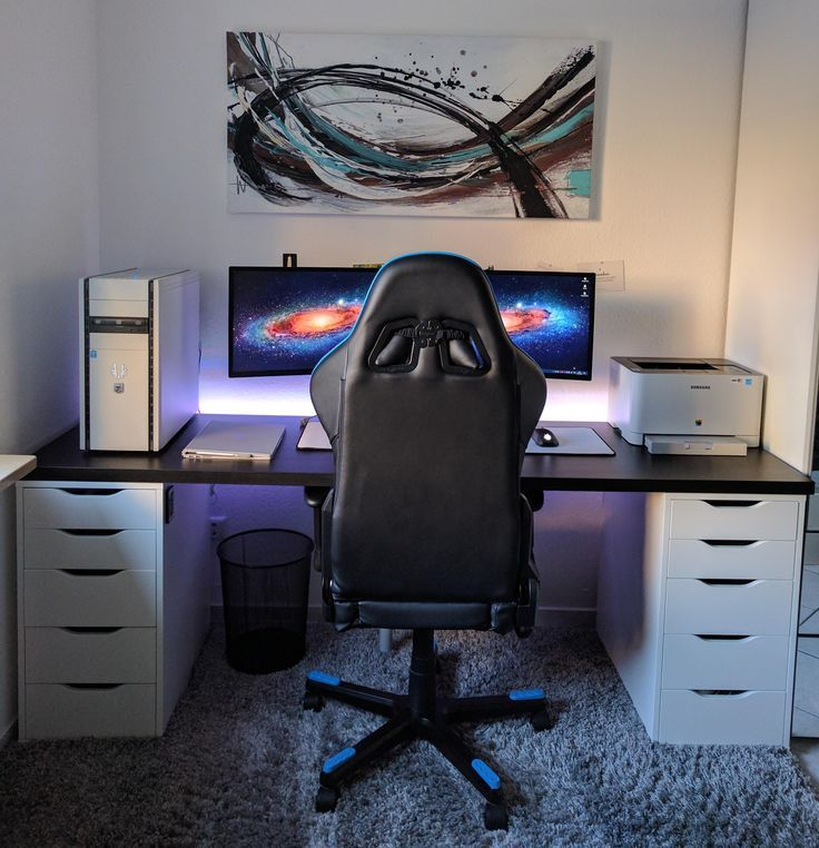 die besten 25 schreibtisch setup ideen auf pinterest b roeinrichtung pc gaming setup und. Black Bedroom Furniture Sets. Home Design Ideas