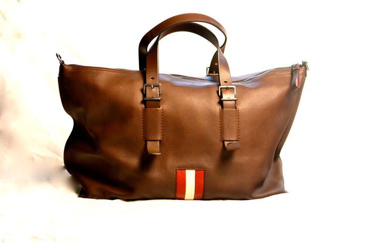 Bally Striped Weekender Bag