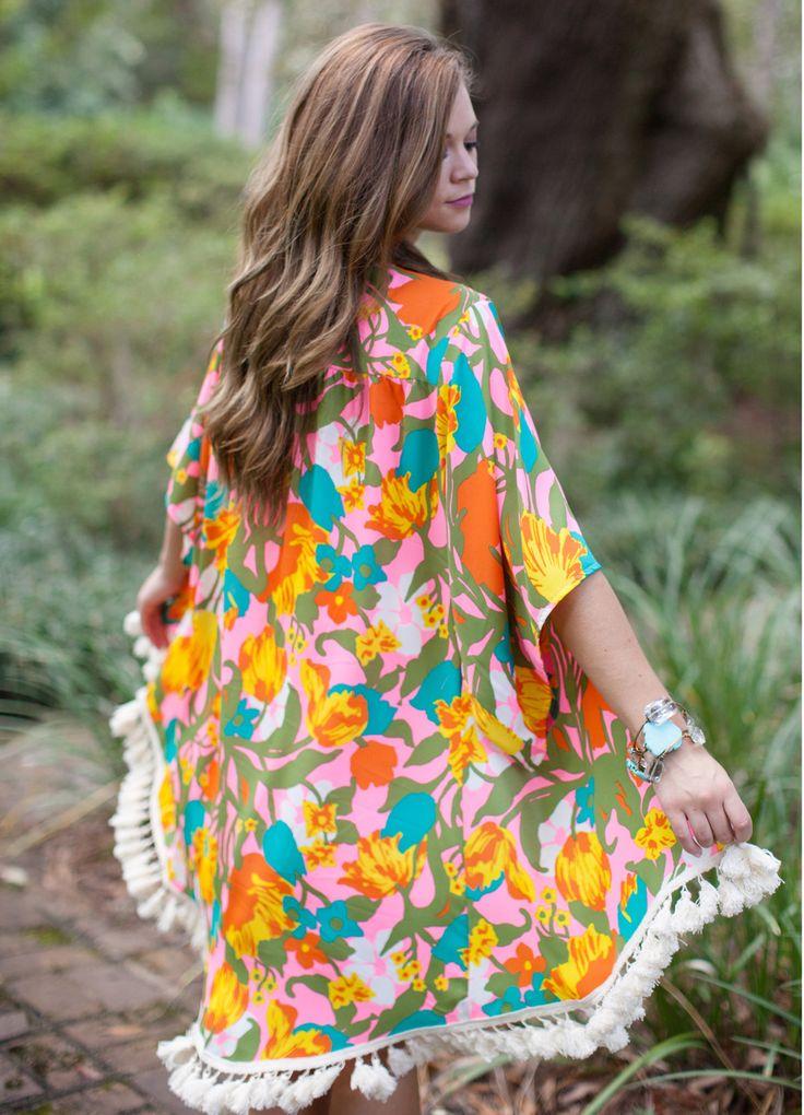 Judith March Garden Party Kimono - Dusty Diamonds Boutique