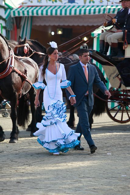 Pareja, Feria de Abril, Sevilla, España