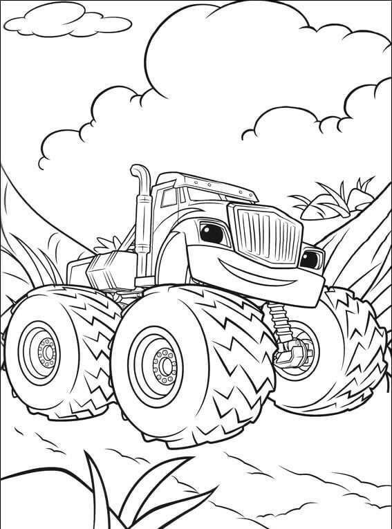Blaze And The Monster Machines Printable Colouring Pages Monster Truck Coloring Pages Truck Coloring Pages Mario Coloring Pages