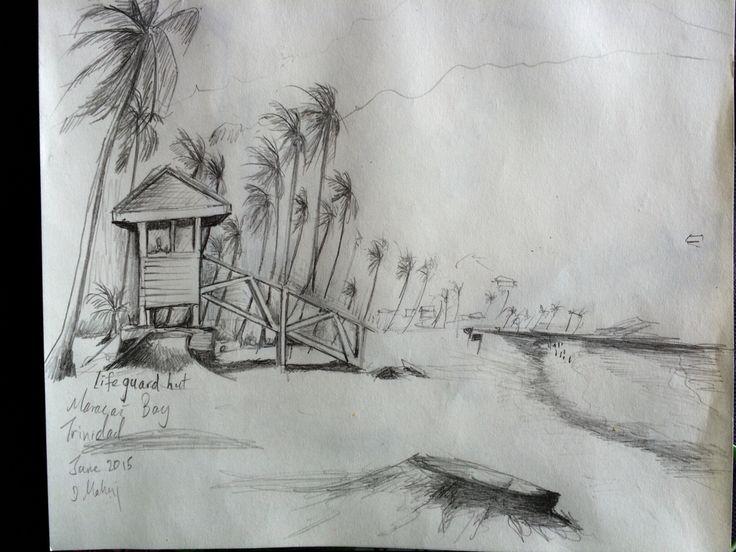 Life guard hut.. Maracas beach Trinidad