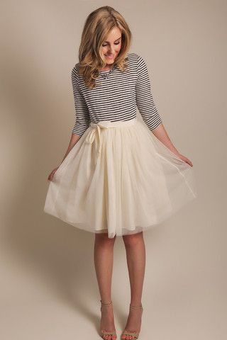 tulle skirt, cream tulle skirt, morning lavender boutique, shop morning lavender, women's clothes, women's boutique, women's online shop, feminine clothes, summer lookbook