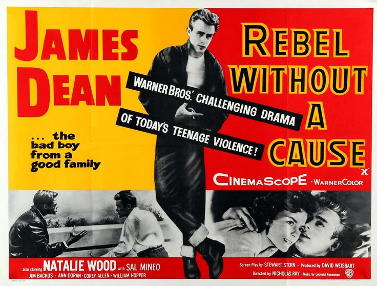 Rebel Without A Cause, poster. James Dean