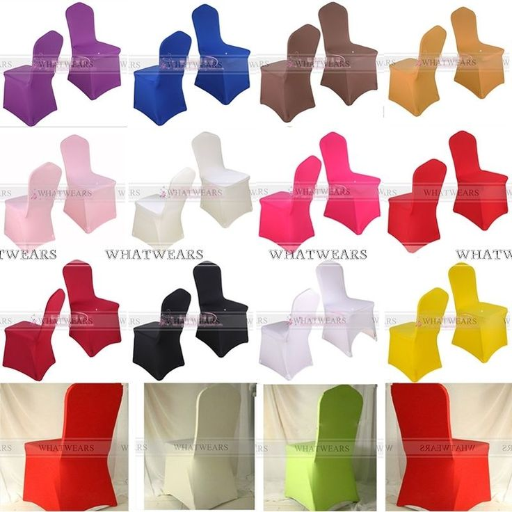 Folding Spandex Stretch Chair Covers Thick Enlarge Banquet Wedding A6011 DUK