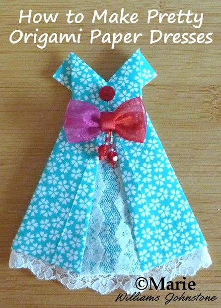 Make Pretty Paper Dresses with Basic Origami Folding Techniques