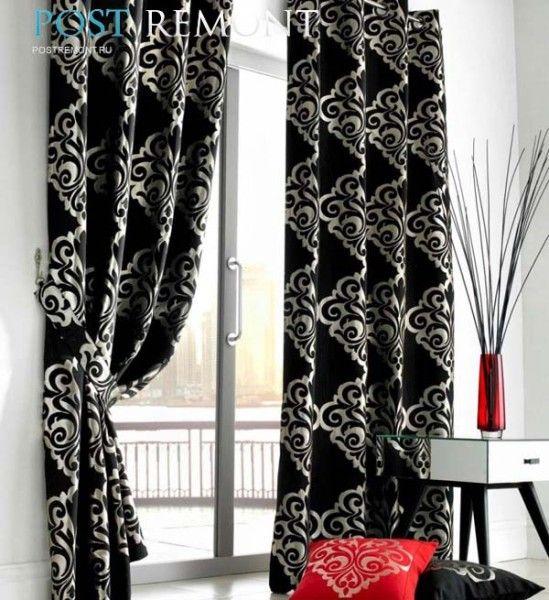 Черные шторы в интерьере | Ремонт квартиры своими руками