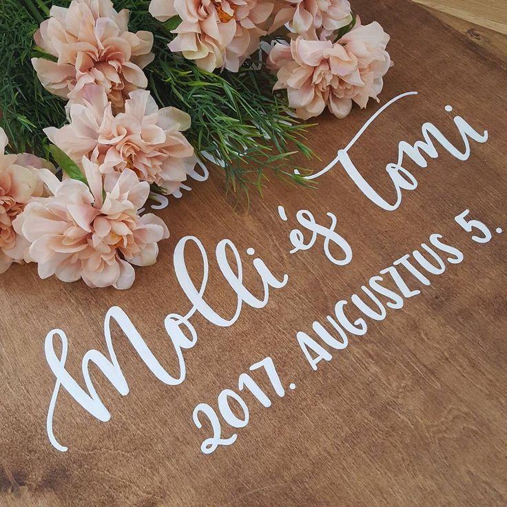 DEKORTÁBLA Üdvözlőtábla Welcome sign Tábla esküvőre
