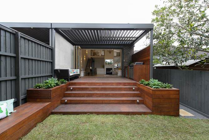 really like this - matches well with the decking colour and greenery